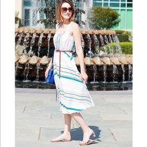 LC Lauren Concrad Striped Summer Midi Dress